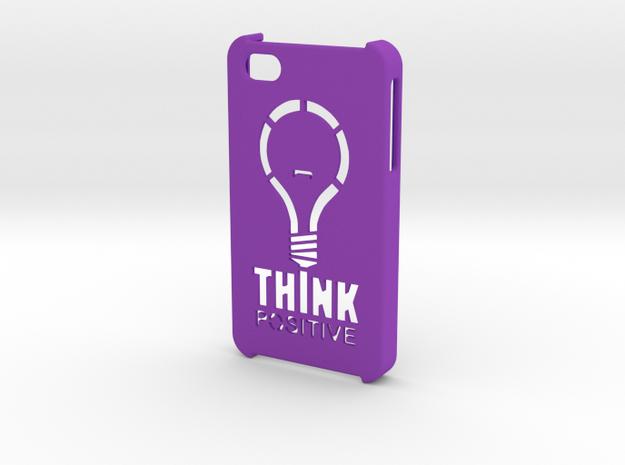 iPhone 4s Hard Case - Think Positive in Purple Processed Versatile Plastic