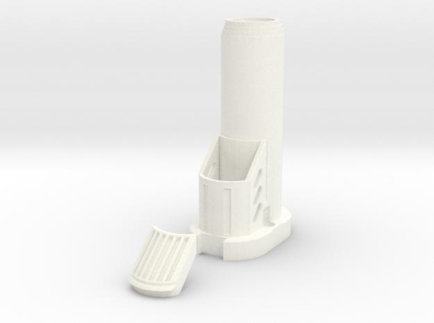 Nerf Star Lord Quad Blaster Bottom Barrel in White Processed Versatile Plastic