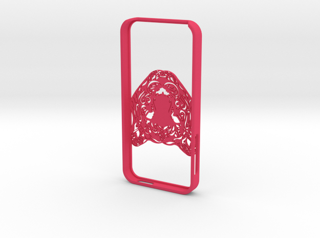 Iphone 5 Hoesje Bjorn Tijger in Pink Strong & Flexible Polished