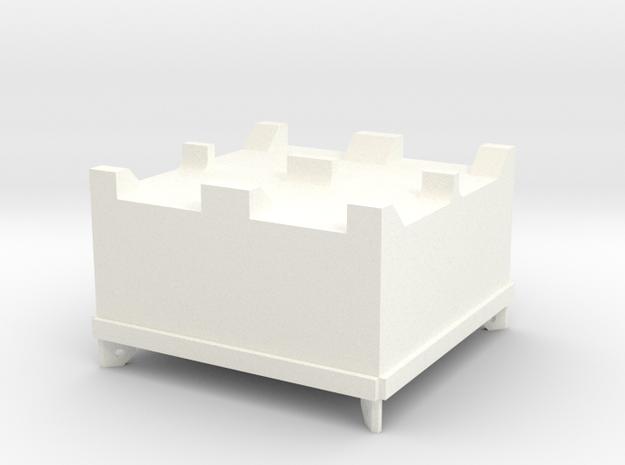 Basket50x50mm in White Processed Versatile Plastic