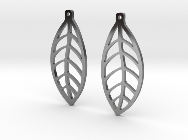LEAF Earrings SMALL in Fine Detail Polished Silver