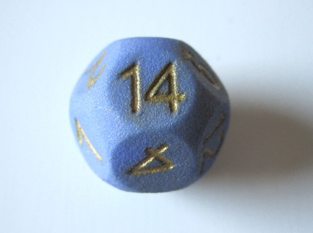 D14 Sphere Dice in White Natural Versatile Plastic