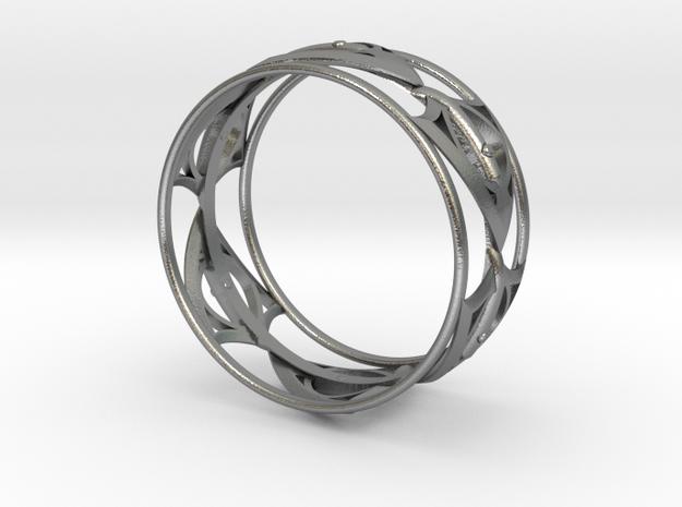 1000 BraceletBangle in Natural Silver