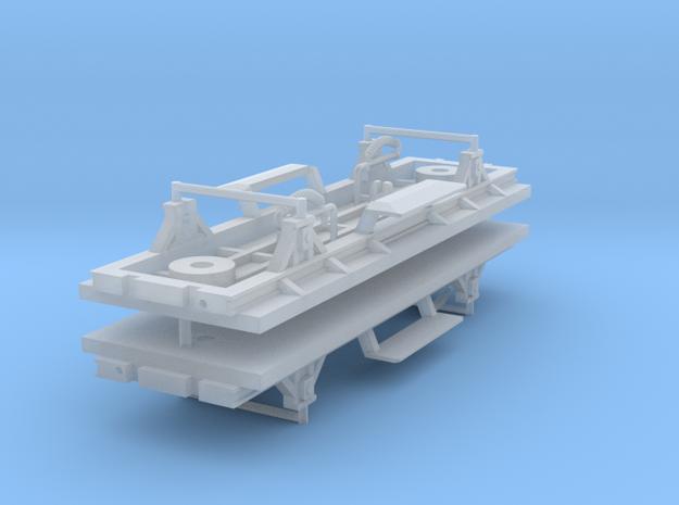 ZB (H0e) - 2ax-Fahrwerke für Liliput Gw - o.Bremse in Smooth Fine Detail Plastic