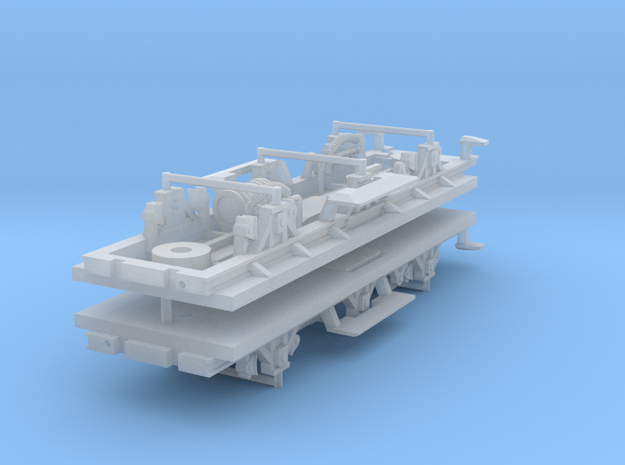 ZB (H0e) - 3ax-Fahrwerke für Liliput Gw - m.Bremse in Smooth Fine Detail Plastic