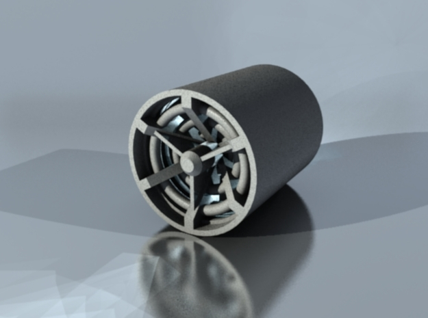 Ring Bladeplug in Polished Metallic Plastic