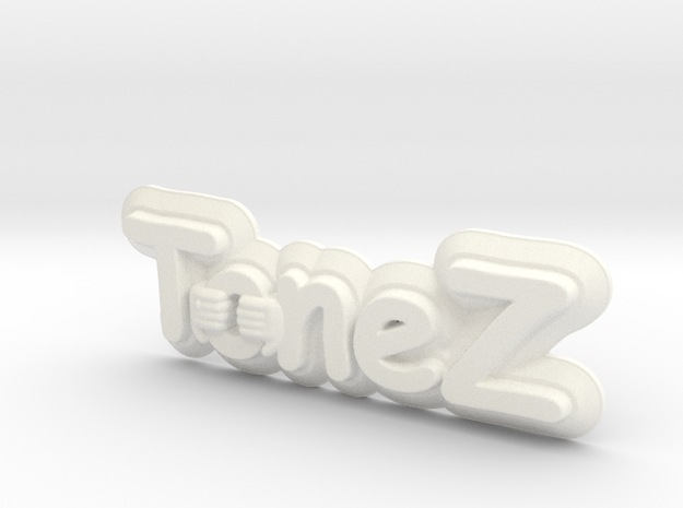 ToneZ Plate - Comic Sans Edition in White Strong & Flexible Polished