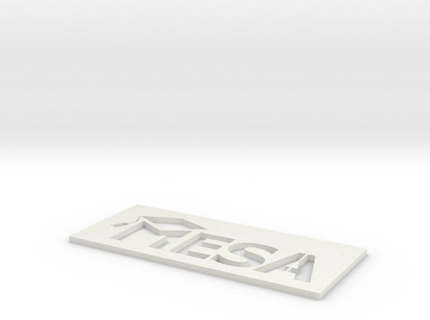 MESA Logo Stencil Large in White Natural Versatile Plastic