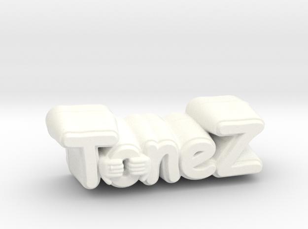 ToneZ Knob - Comic Sans Edition in White Processed Versatile Plastic