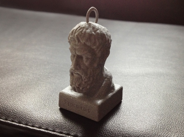 Epicurus Keychains 2 inches tall in Polished Metallic Plastic