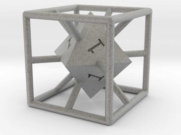 Average D6 Cage Dice 3d printed