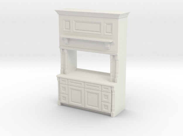 1:48 Farmhouse Cabinet, Plain in White Strong & Flexible