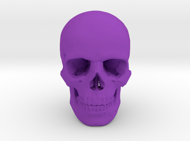 25mm 1in Human Skull Crane Schädel че́реп in Purple Processed Versatile Plastic