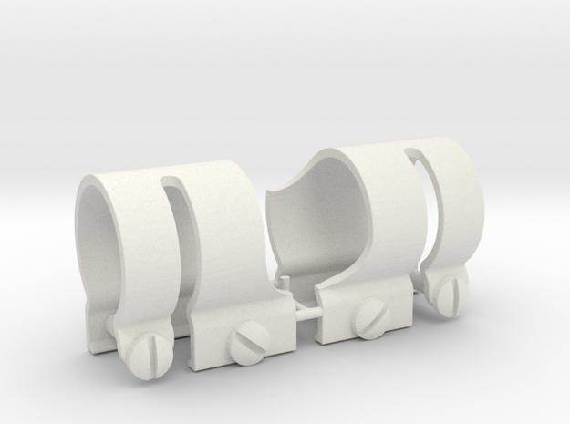Pair of Replica Vintage 4X20 Scope Rings in White Natural Versatile Plastic