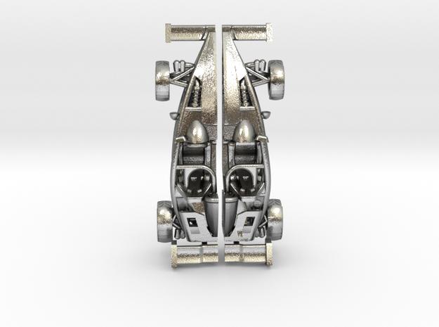 Ariel Atom earrings, 109th scale LHD w/wings in Natural Silver