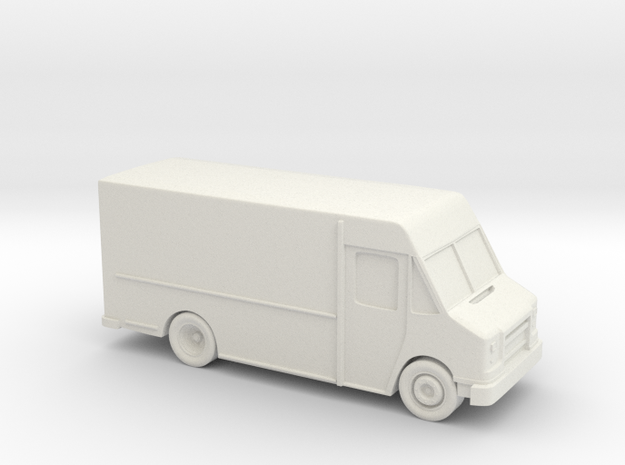 Delivery Truck 3.5 Inch in White Strong & Flexible