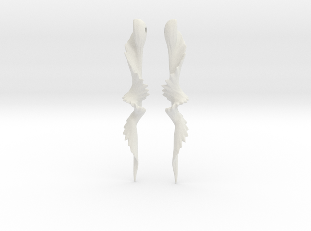 Temporal Twist Drop Earrings in White Natural Versatile Plastic