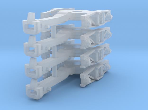 ZB (H0e) - 2P Drehgestelle für 4-ax Gw (Bosna) in Smooth Fine Detail Plastic