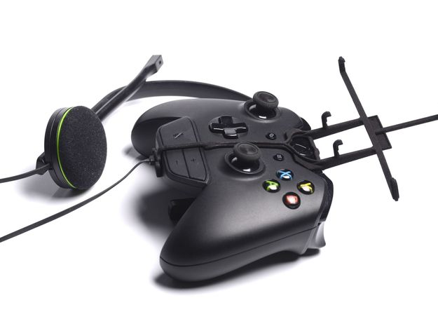 Xbox One controller & chat & Spice Mi-720 3d printed Without phone - A Nexus 7 and a black Xbox One controller & chat