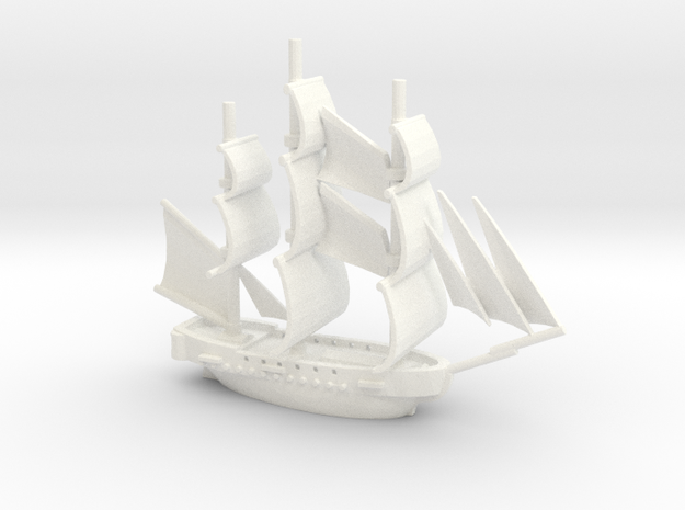 HMS Surprise ~1/700 scale 3d printed