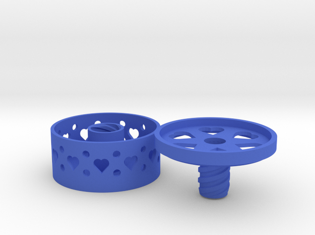 *ring holder The Ringmaster Small Hearts 3d printed