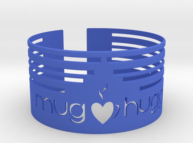 Mug hugger wrapper 2014 Lines in Blue Processed Versatile Plastic