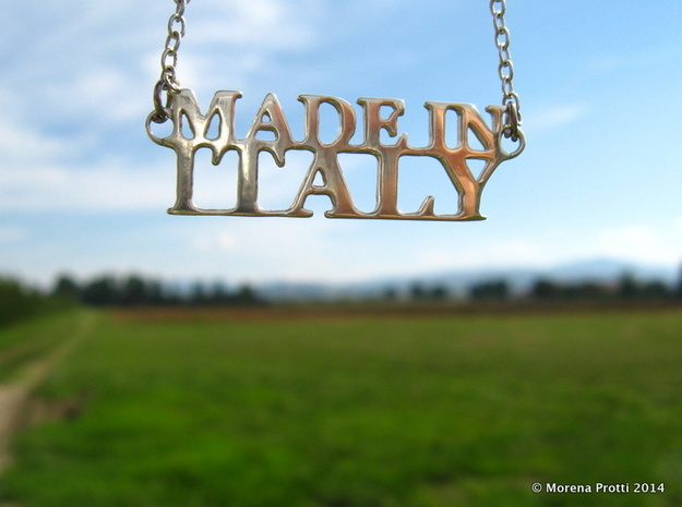 Made in ITALY Pendant in Fine Detail Polished Silver
