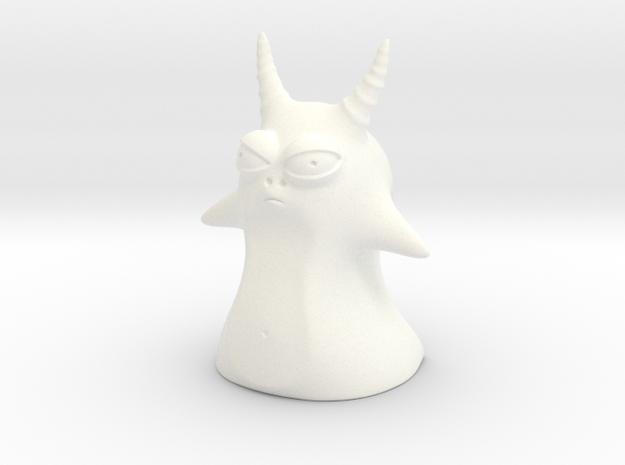 Creature in White Processed Versatile Plastic