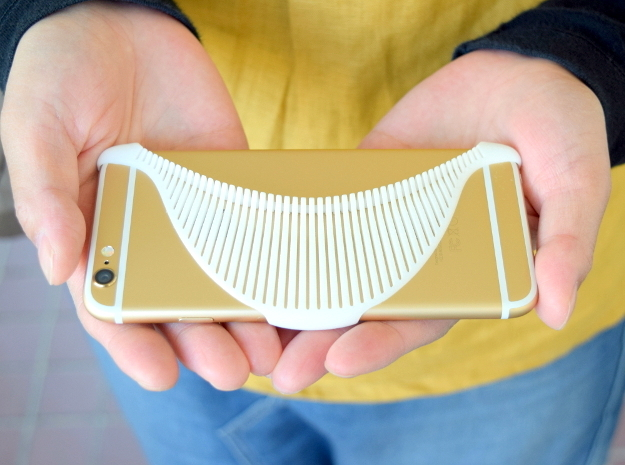 MANTA - 3d printed iphone 6 case - in White Processed Versatile Plastic