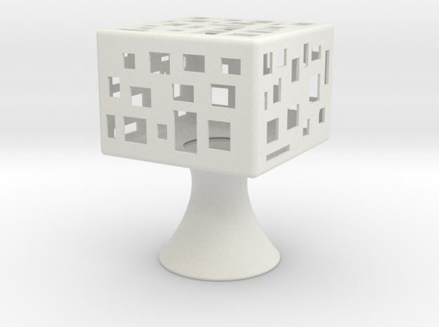 Square-light in White Natural Versatile Plastic