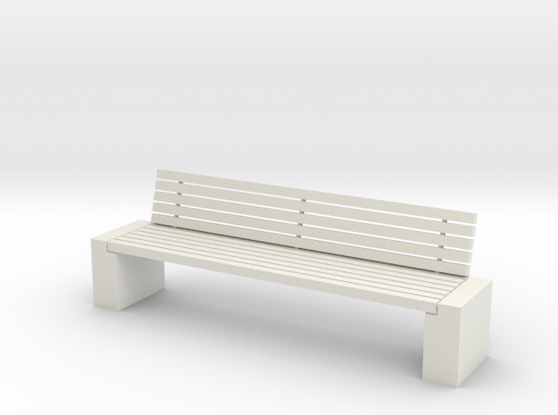 Tuinbank 1 1-24 in White Natural Versatile Plastic