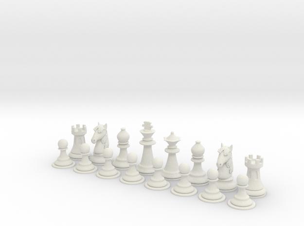 SimChess-basic in White Natural Versatile Plastic