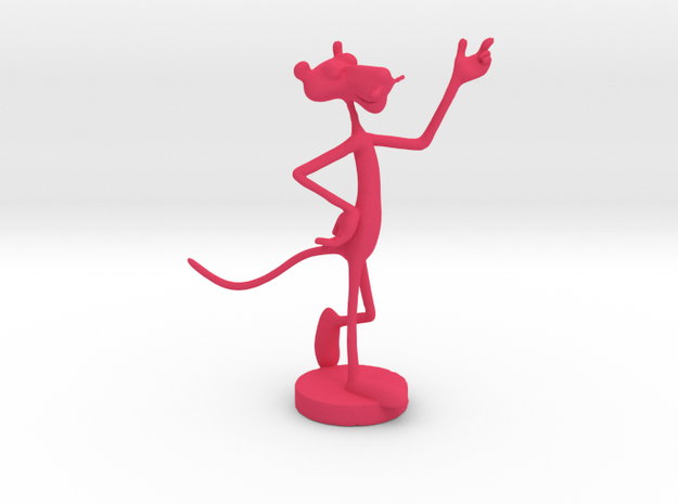 Pink Panther Figurine in Pink Processed Versatile Plastic