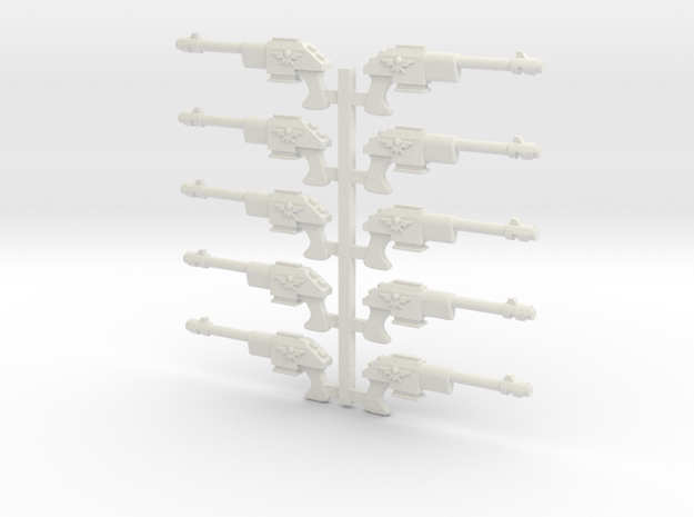 Lasguns or Autoguns 28mm scale in White Natural Versatile Plastic