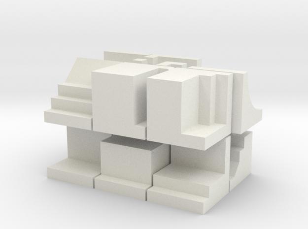 Blokken - kleurloos in White Strong & Flexible