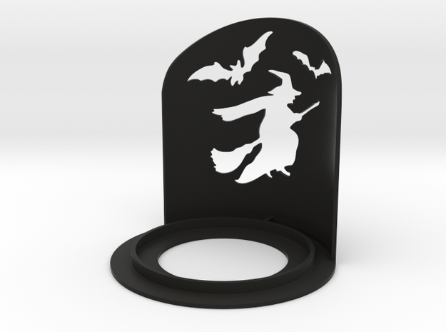 Halloween Witch Tea Candle Holder in Black Natural Versatile Plastic