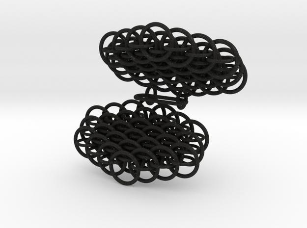 Dragonscale earrings 3d printed