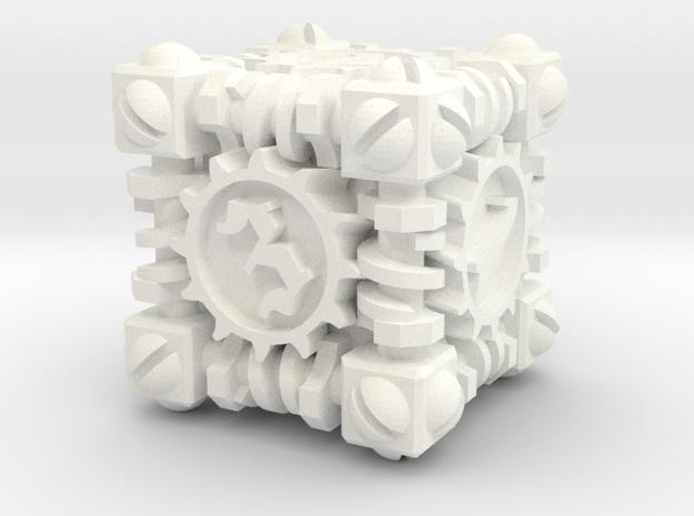Plastic Steampunk Die Cube