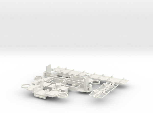 Fahrgestell Rheinbahn GT8S in White Natural Versatile Plastic