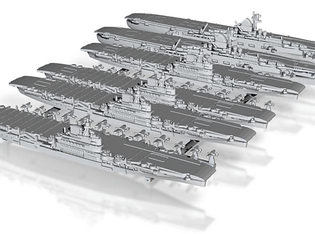 1/2400 UKCV Illustrious(x4) + KMCV GrafZeppelin(x2 3d printed