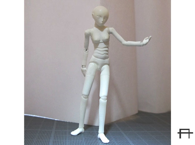 1/20 scale ALPHA EGO BJD kit, Female V02 in Smooth Fine Detail Plastic