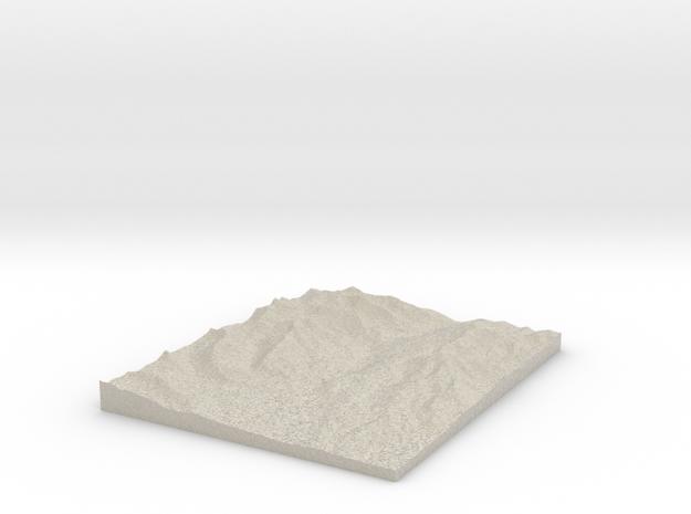 Model of Quartzville Creek in Natural Sandstone