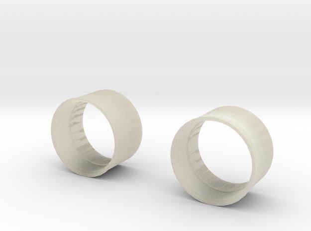 10x8 Medium Offset Modular Rim in White Acrylic