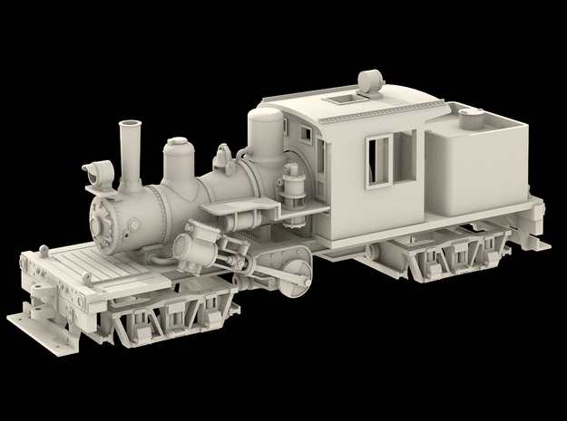 N Scale 25 Ton Climax in Smoothest Fine Detail Plastic
