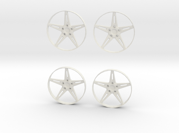 "5-Spoke Insert #01 for 18"" Modular Wheel in White Natural Versatile Plastic"
