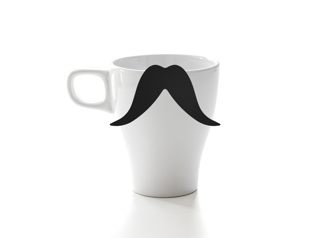 Mug & glass accessories Mustache 8 in Black Natural Versatile Plastic