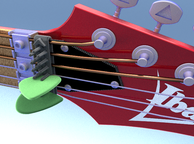 Guitar Mount Pick Holder 3d printed Guitar Mount Pick Holder
