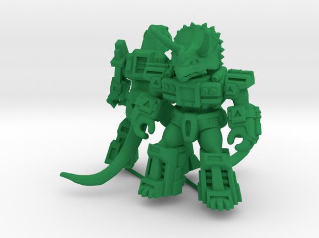 MiniCreatures: Rampager Rex Vs Titantic Triceratop in Green Processed Versatile Plastic