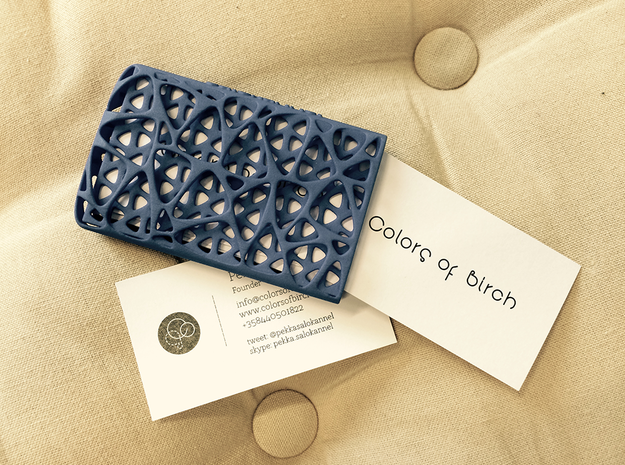 Business card case -Network in Blue Processed Versatile Plastic