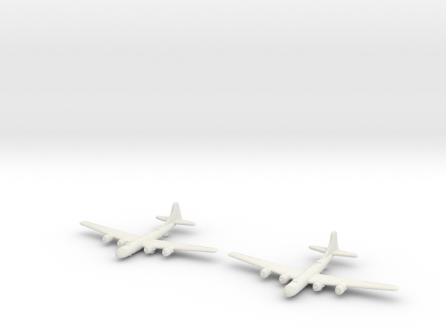 B-29 (Qty.2) Global War Scale in White Natural Versatile Plastic